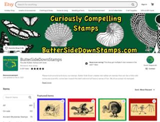 buttersidedownstamps.com screenshot