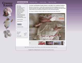 buy-online-crochet-and-knitted-baby-clothes.co.uk screenshot