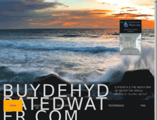 buydehydratedwater.com screenshot
