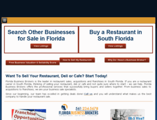 buyfloridarestaurants.com screenshot