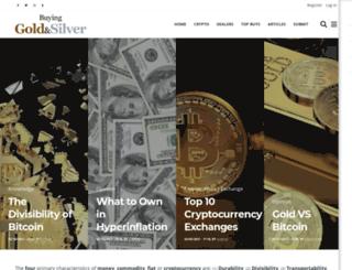 buyinggoldandsilver.com screenshot