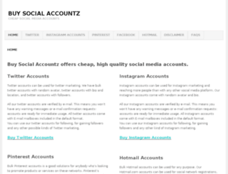 buysocialaccountz.com screenshot