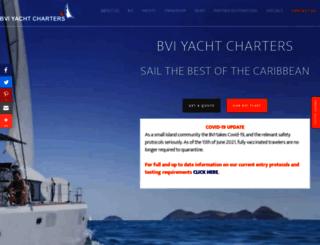 bviyachtcharters.com screenshot