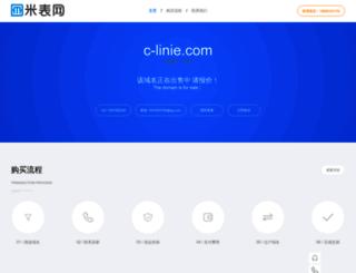 c-linie.com screenshot