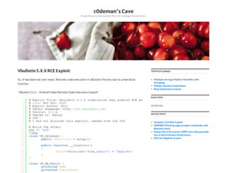 c0deman.wordpress.com screenshot