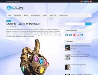c2clive.com screenshot