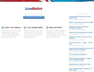 ca.liveballot.com screenshot