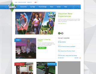 ca.thesims3.com screenshot