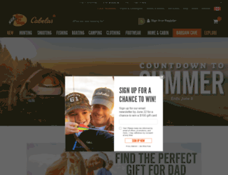 cabelas.ca screenshot