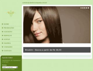 cabeloecompania.com.br screenshot