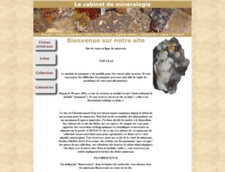 cabinet-de-mineralogie.fr screenshot