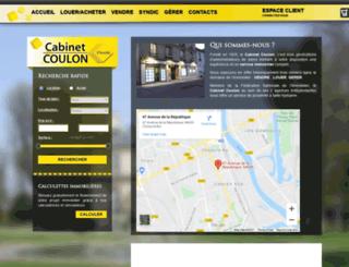 cabinetcoulon.com screenshot