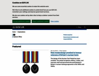 cabinetoffice.gov.uk screenshot