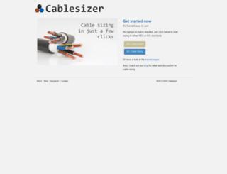 cablesizer.com screenshot
