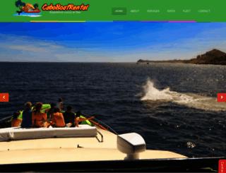 caboboatrental.com screenshot