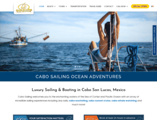 cabosailing.com screenshot