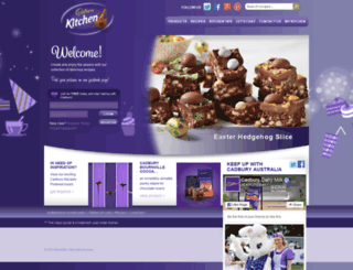 cadburykitchen.com.au screenshot