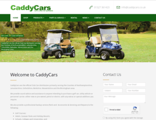 caddycars.co.uk screenshot