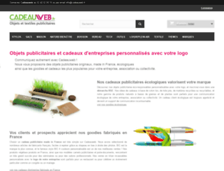 cadeauweb.fr screenshot