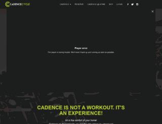 cadence-cycle.com screenshot