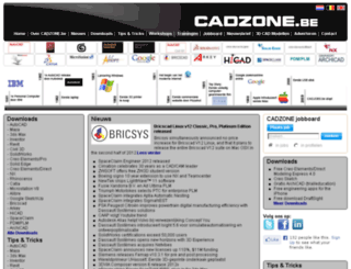cadzone.be screenshot