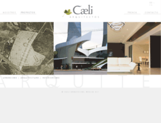 caeliarquitectos.com screenshot