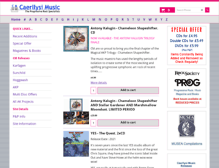 caerllysimusic.co.uk screenshot