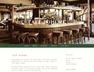 cafeboheme.co.uk screenshot
