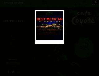 cafecoyoteoldtown.com screenshot