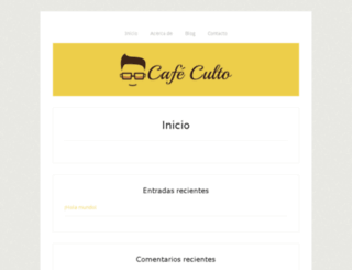 cafeculto.com screenshot