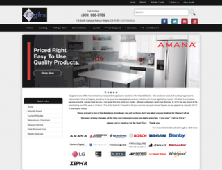 caglesappliance.com screenshot