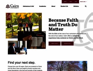 cairn.edu screenshot