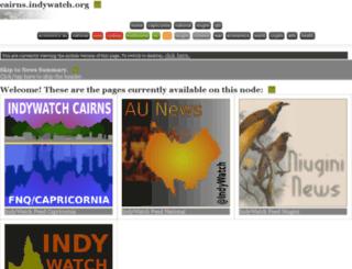 cairns.indywatch.org screenshot