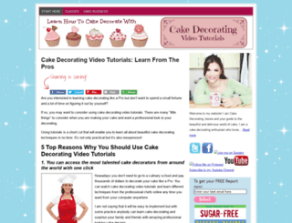 cakedecoratingvideotutorials.com screenshot