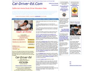 cal-driver-ed.com screenshot