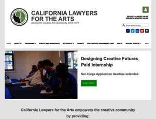 calawyersforthearts.org screenshot