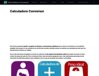 calculadoraconversor.com screenshot