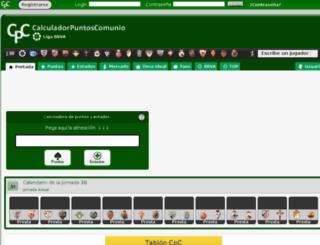 calculapuntoscomunio.com screenshot