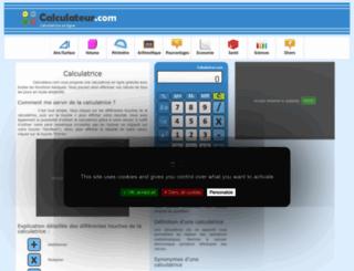 calculateur.com screenshot
