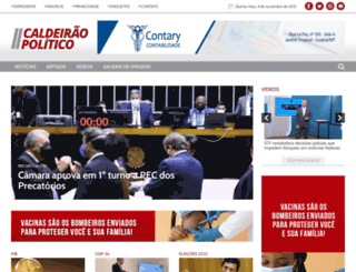 caldeiraopolitico.com.br screenshot
