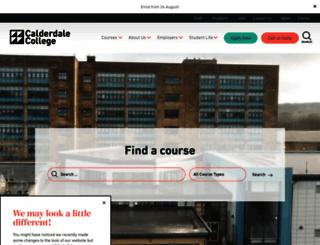 calderdale.ac.uk screenshot