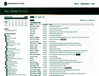calendar.csus.edu screenshot