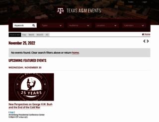 calendar.tamu.edu screenshot