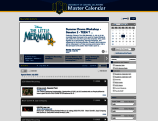 calendar.uco.edu screenshot