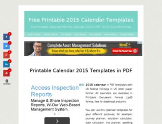 calendar2015.org screenshot