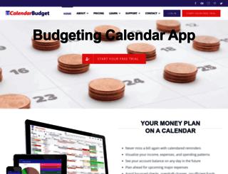 calendarbudget.com screenshot