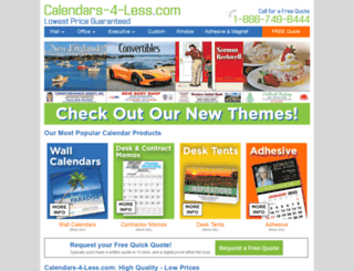 calendars-4-less.com screenshot