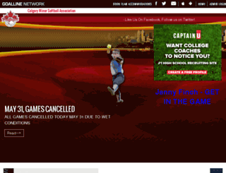 calgaryminorsoftball.com screenshot