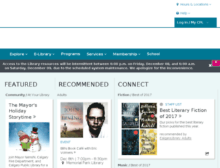 calgarypubliclibrary.com screenshot