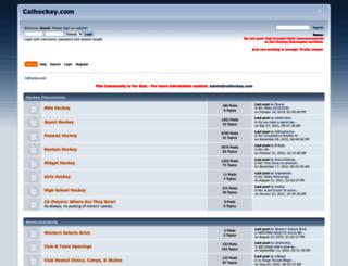 calhockey.com screenshot